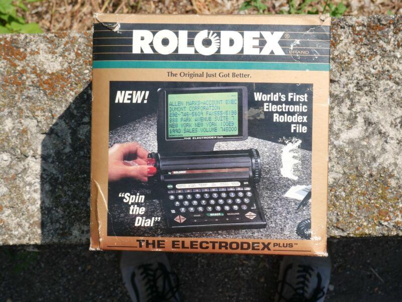 Vintage 1990 Rolodex The Electrodex Plus 64K  Electronic Card File