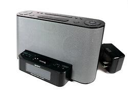 Sony Dream Machine FM/AM Clock Radio ICF-CS10iP Speaker Dock iPhone iPod
