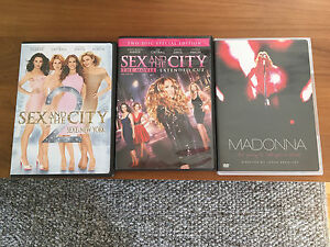 Les 3 DVD Sex and the city et Madonna