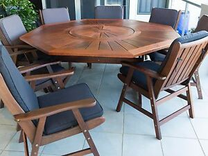 8 Seater Timber Outdoor Setting Manly West Brisbane South East Preview