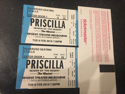 2 x RESERVE SEATING to Priscilla Queen of the Desert