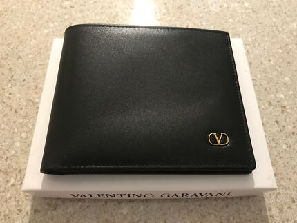 New Valentino garavani black leather wallet