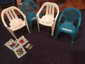 NEW toddler chairs with webkinz outfits