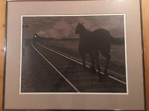 "Alex Colville print ""Horse and Train"""