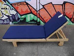 New Timber Sun Lounge Bed Recliner Pool Chairs Outdoor Furniture Melbourne CBD Melbourne City Preview