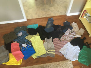 Lot of women's size small clothing (individual pics in slides)