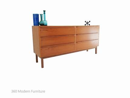 Mid Century Modern Sideboard Drawers Teak tv unit Retro Vintage