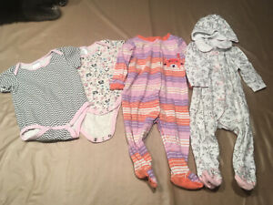 6-9 month sleepers and onesies