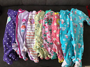 3 month baby girl sleepers (8 pairs)