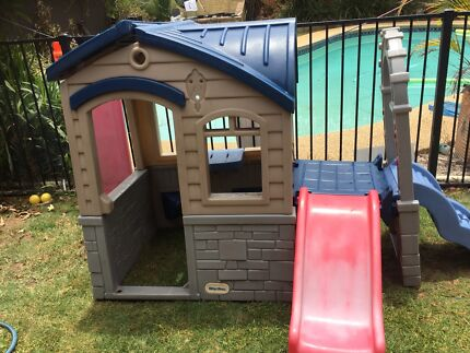 Little tykes cubby house and slide