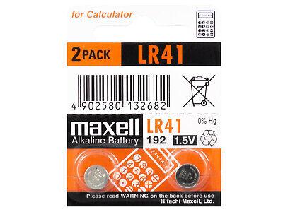 2 x Maxell AG3 LR41 192 1.5V Pila Batteria Battery Blister Button...