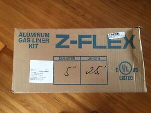 NEW Aluminum gas chimney liner kit Z Flex 5 inch 25 foot