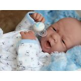 "AWW! BABY BOY ""DOGGIES""! Preemie Life Like Reborn Pacifier Doll + Extras"