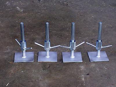 Juego de 4 Patas Ajustables Pies Placas Base Clásico Andamio Torres Toptower