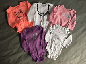 Girls long sleeve onesies size 3-6 months