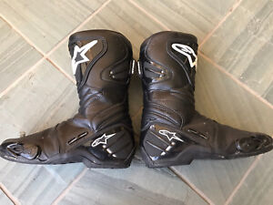 Alpinestars Smx4 Motorcycle Boots Size 9 us 43 Euro
