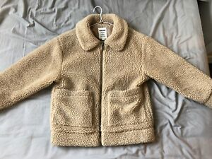 XS-S trendy beige garage fleece sweater new ~ $50