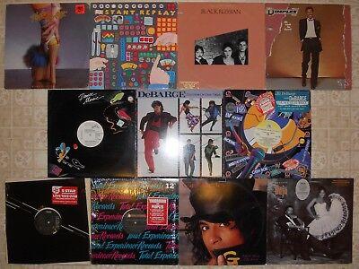 "R&B Soul Disco 11 Vinyl Record Lot 6 LP & 5 12"", All US 1st, 1 Sealed 4 Promo"