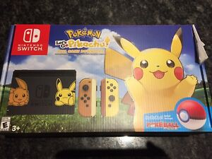 Let's go pikachu bundle Nintendo switch sold out in stores