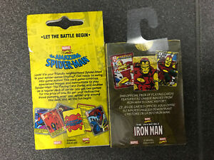 Spider man silver age iron man marvel comic deck cards