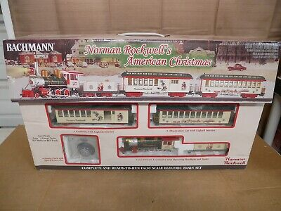 Bachmann 25023 Norman Rockwell's American Christmas Train Set On30 Scale *READ