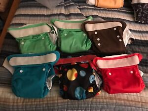Cloth Diaper Lot Mostly Bumgenius in good used condition