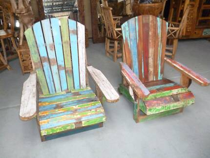 Chabby Chic RECYCLED FRENCH RECLAIMED BOAT TIMBER CHAIR SEAT Granville Parramatta Area Preview
