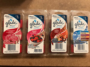 Four packages of glade wax melts