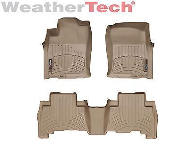 WeatherTech Custom Floor Mat FloorLiner for GX460/4Runner - 1st/2nd Row - Tan - Custom Floor Runners