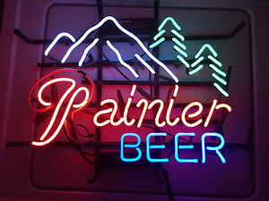 Rainier Beer real NEON Mancave Bar Garage sign