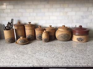 Canister Set Canadian Pottery