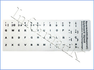 White Spanish Stickers Keyboard Etiqueta Pegatinas Blanco Espanol para Teclado, gebraucht gebraucht kaufen  Versand nach Germany