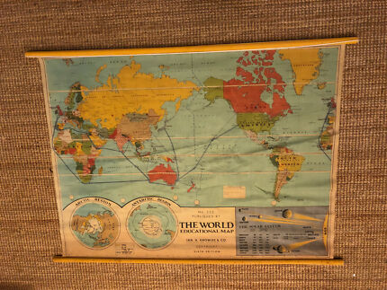 Typo world map gumtree australia free local classifieds typo vintage world map 113cm x 89cm gumiabroncs Gallery