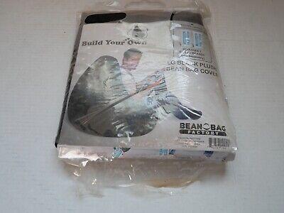 Black Plush Bean Bag - Bean Bag Factory Large Black Plush Bean Bag Chair Cover ONLY New-see description