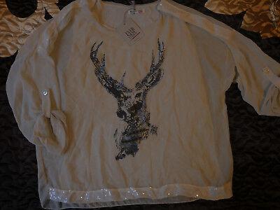 Schöne Damen Bluse Tunika Frauen Shirt, Gr. M/L/XL, NEU!