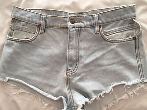 Somedays Lovin Denim shorts w/ cut out detail pockets Adelaide CBD Adelaide City Preview