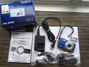 Olympus FE-370 camera and accessories