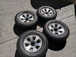 4 Used tyres and rims - 265/70R16 - $200 Coorparoo Brisbane South East Preview