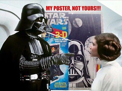 1978 Star Wars Darth Vader 3D Poster Wall Art Fundimensions NOS Sealed Free Ship