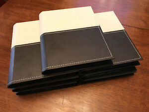 UMBRA leather bound photo albums x 7