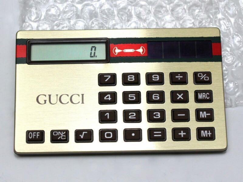 NOS Unused Vintage GUCCI Brand Solar Purse / Wallet Calculator by Aurora
