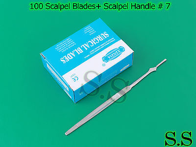 100 Scalpel Blades 15 Scalpel Handle 7 Surgical Dental Ent Instruments