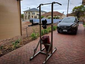 Pull up, dip, and ab raise station with boxing bag Glynde Norwood Area Preview