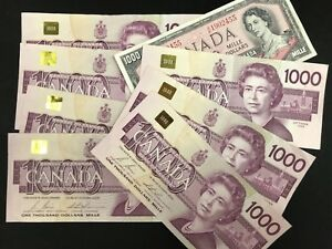 $1000 Bank Of Canada Banknote, Paper Money - SALES EVENT!!