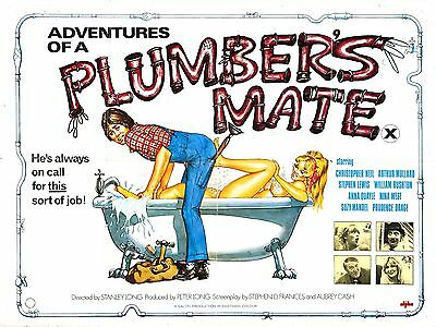 "Adventures of a Plumbers Mate 16"" x 12"" Reproduction Movie Poster Photograph"