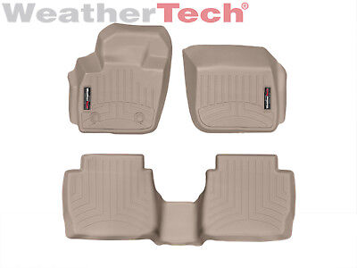 WeatherTech Custom Floor Mat FloorLiner for Fusion/MKZ - 1st/2nd Row - Tan