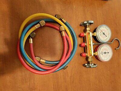Yellow Jacket 41213 2-valve Mechanical Manifold Gauge Set