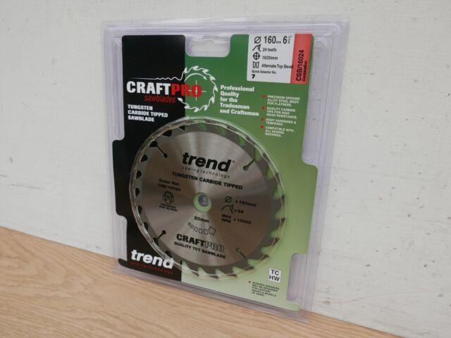 TREND 160MM X 20MM BORE 24T TCT CIRCULAR SAW BLADE CSB/16024