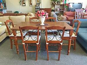 DELIVERY TODAY 7 pcs FRENCH dining table & chairs QUICK SALE Belmont Belmont Area Preview