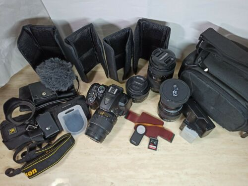Nikon D5300 24.2MP Digital SLR Camera Kit Shutter Count 5845 W/ MANY EXTRAS - $549.99